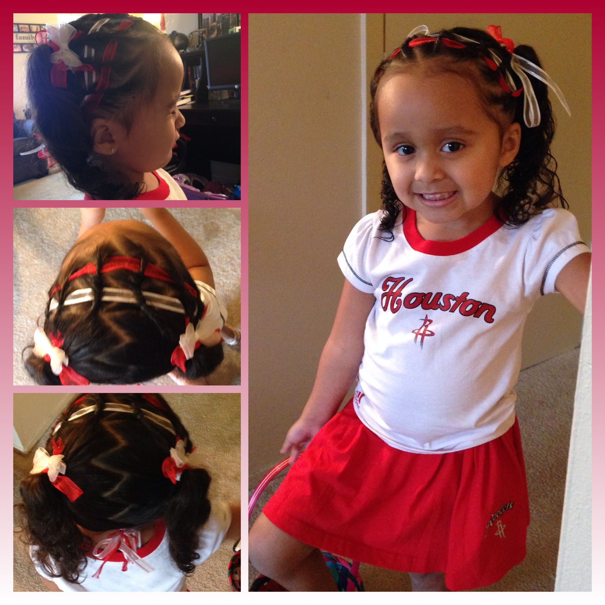 Baby Girls Hairstyle For The Basketball Game Little Girl