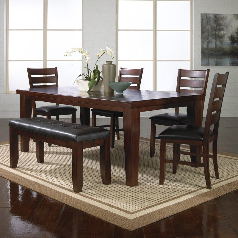Stephentown 6 Piece Solid Wood Dining Set Dining Room Furniture