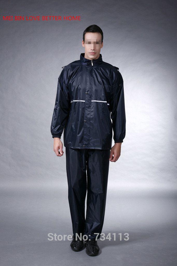 Impermeable durable 2017 Motorcycle Raincoat Rain Pants Suit ...