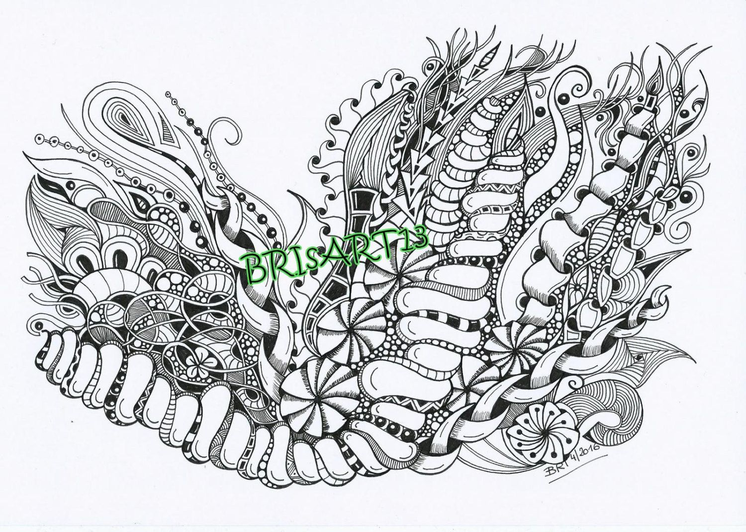 Zentangles Downloads - Adult coloring DOODLES-ZIA made by BRI ...