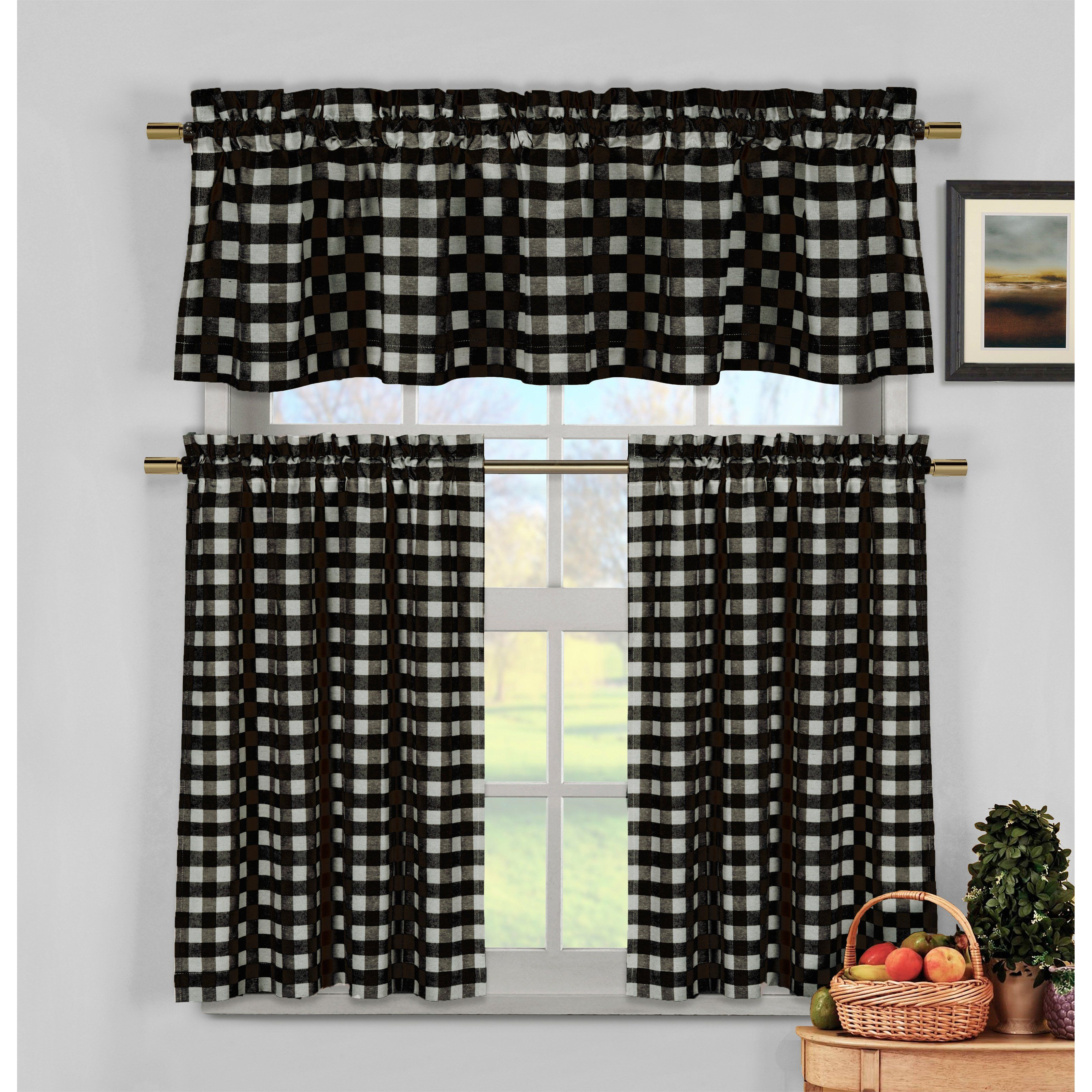and set tier valance curtain imperial flower jacquard pin collection kitchen designers rt sets