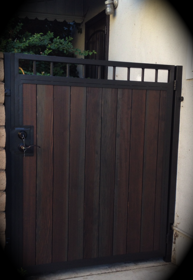 Combination Gates Lakewood Steel Framed Wood Gates