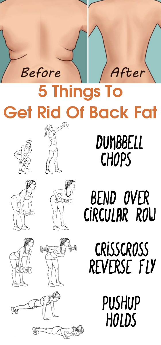 5 Things To Get Rid Of Back Fat | Health and fitness ...