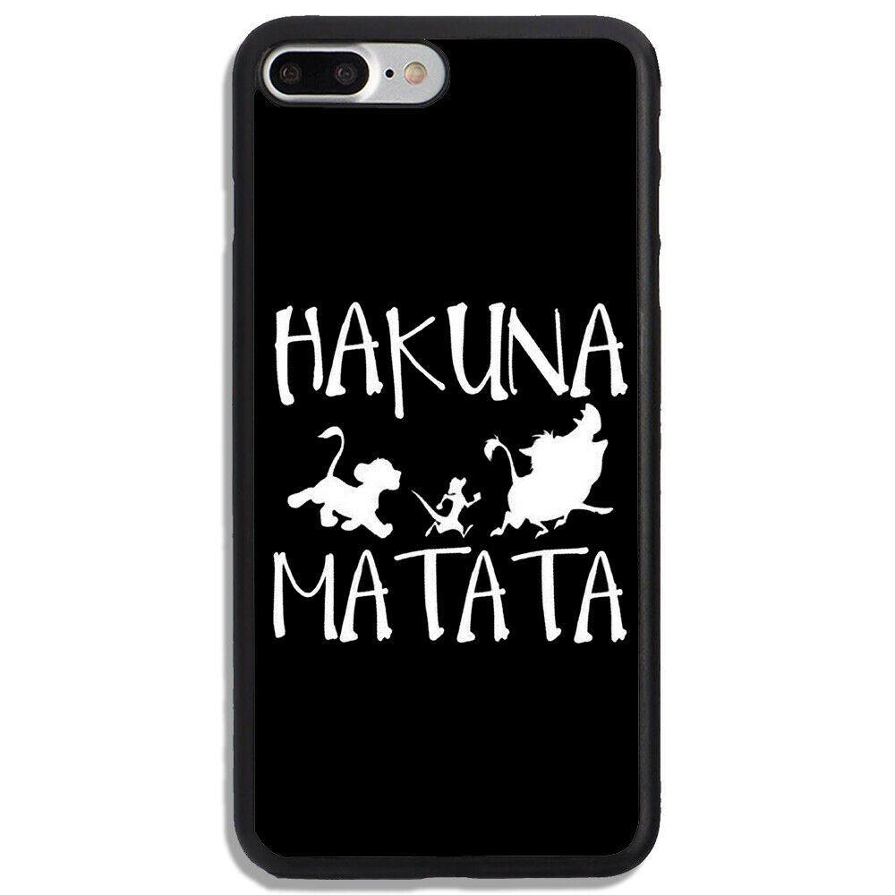Hakuna Matata Silluete Black White Hard Cover Phone Case For ...