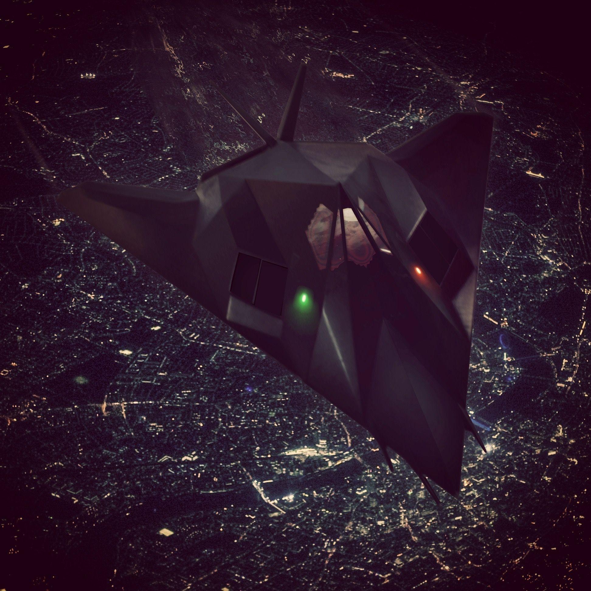 Lockheed F117A Nighthawk Stealth Fighter fibreglass model