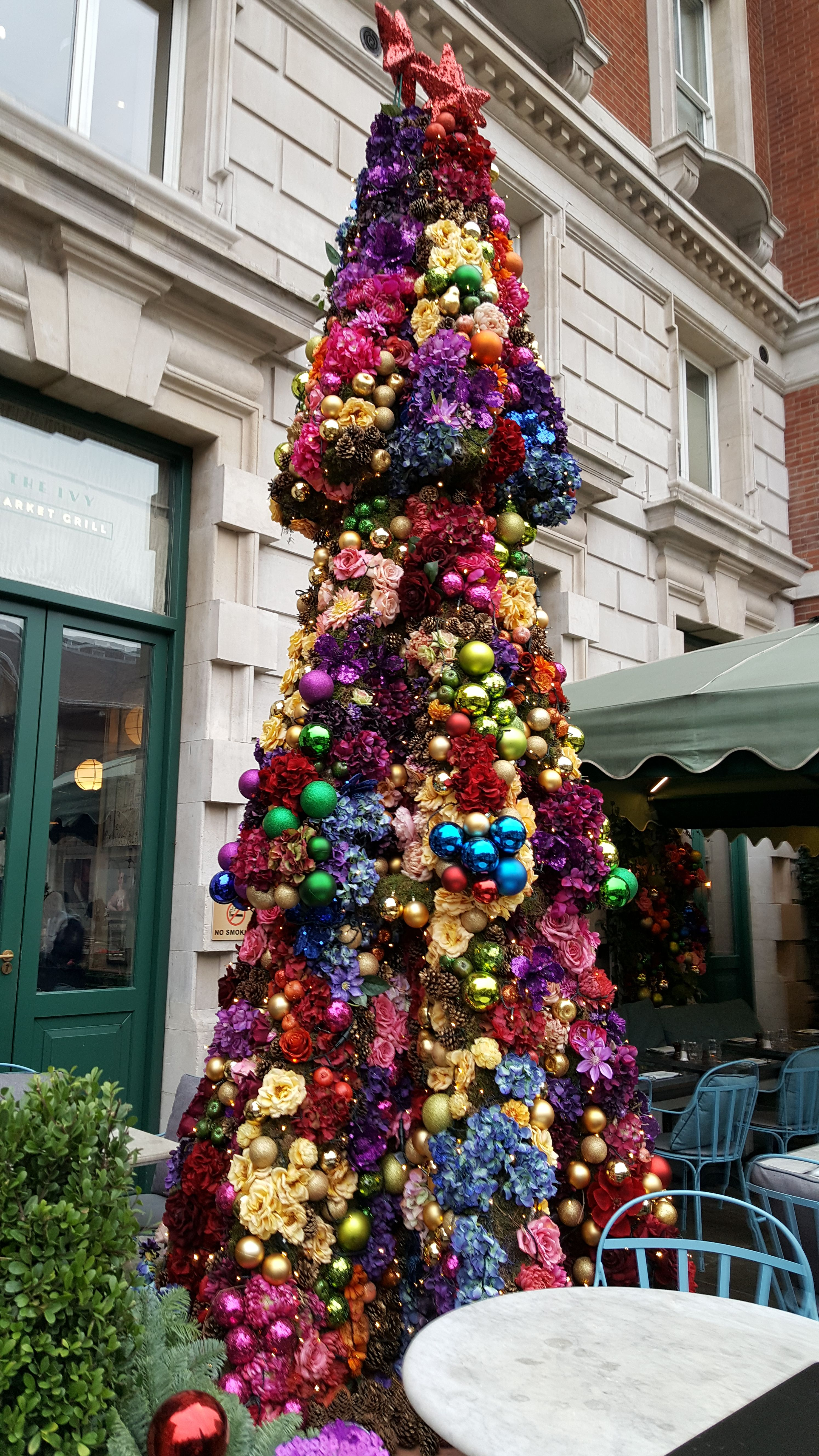 Tree outside The Ivy Market Grill, Covent Garden, London