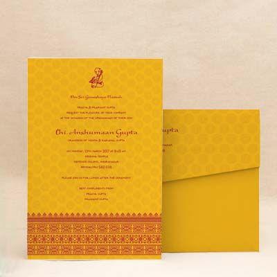Temple border yellow thread ceremony invitation cards munj batu temple border yellow thread ceremony invitation cards munj batu threadceremony stopboris Choice Image