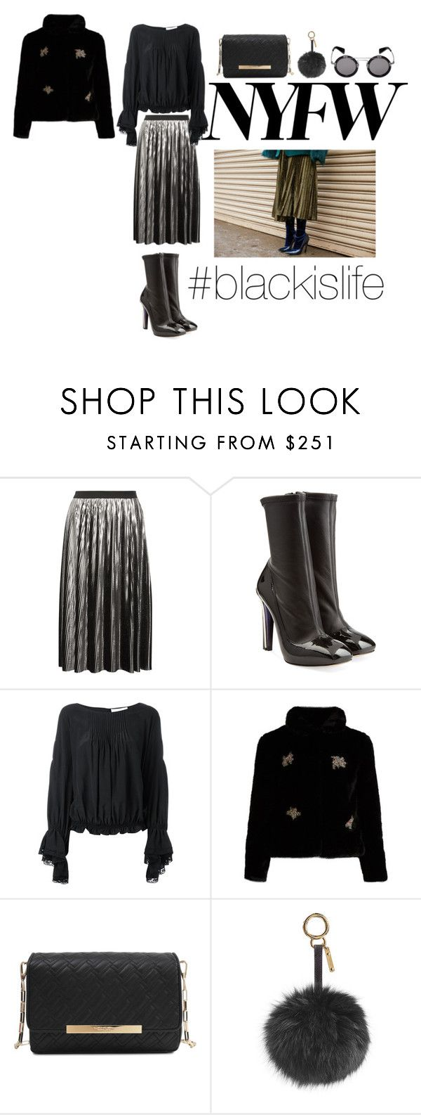 """#blackislife"" by blackislifetag ❤ liked on Polyvore featuring Jil Sander, Alexander McQueen, Chloé, Shrimps, Lancel, Fendi, Yohji Yamamoto, love and BlackisLife"