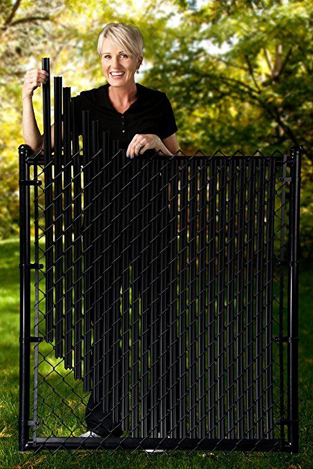 Amazon Com 4ft Black Ridged Slats 174 For Chain Link Fence