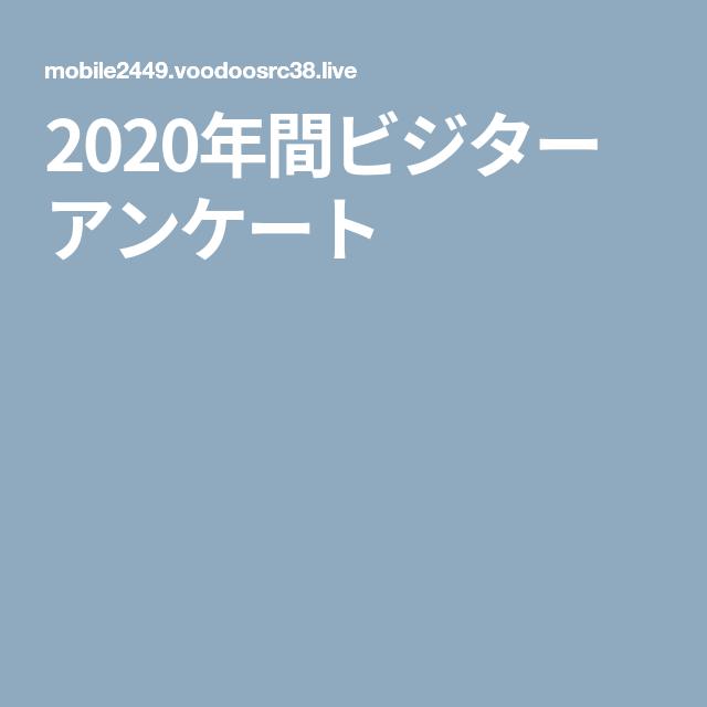 アンケート 2020 ビジター