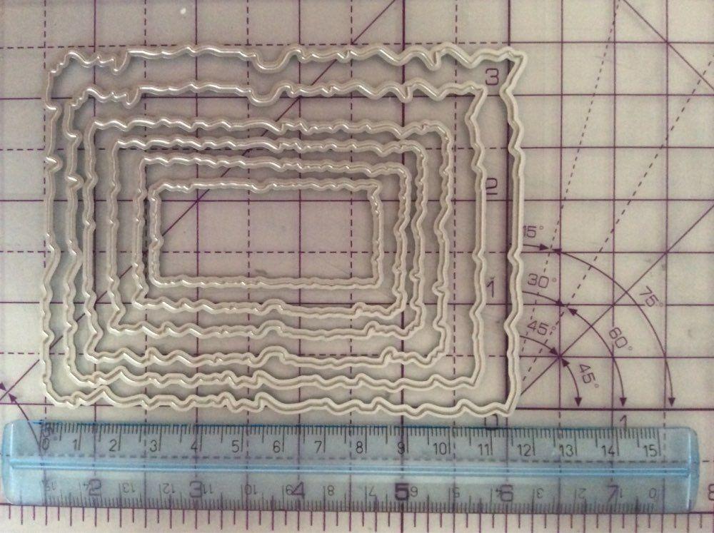 Rectangle Frames Metal Cutting Dies Scrapbooking Making Stencil Embossing DIY