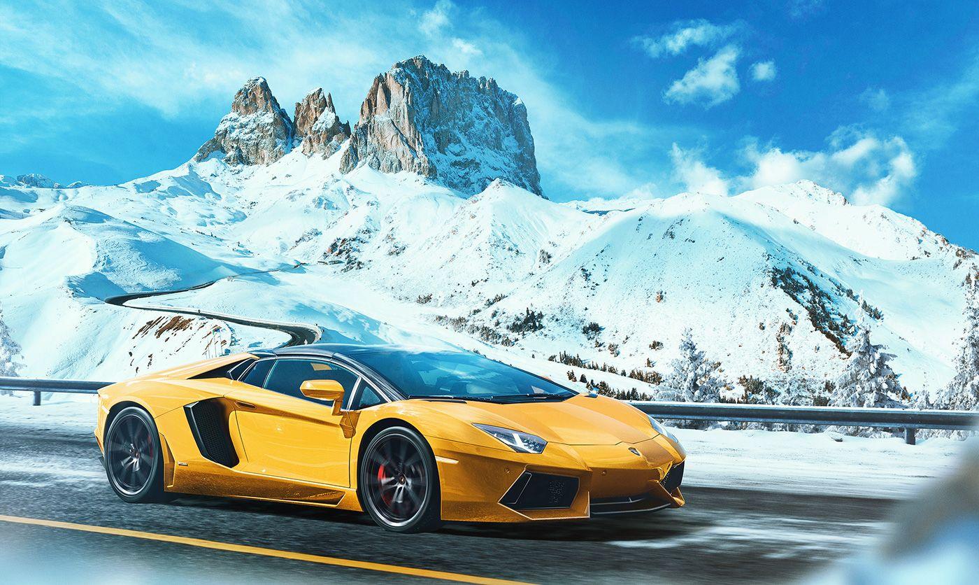 Lamborghini Aventador Photoshop Exercise Graphic Design