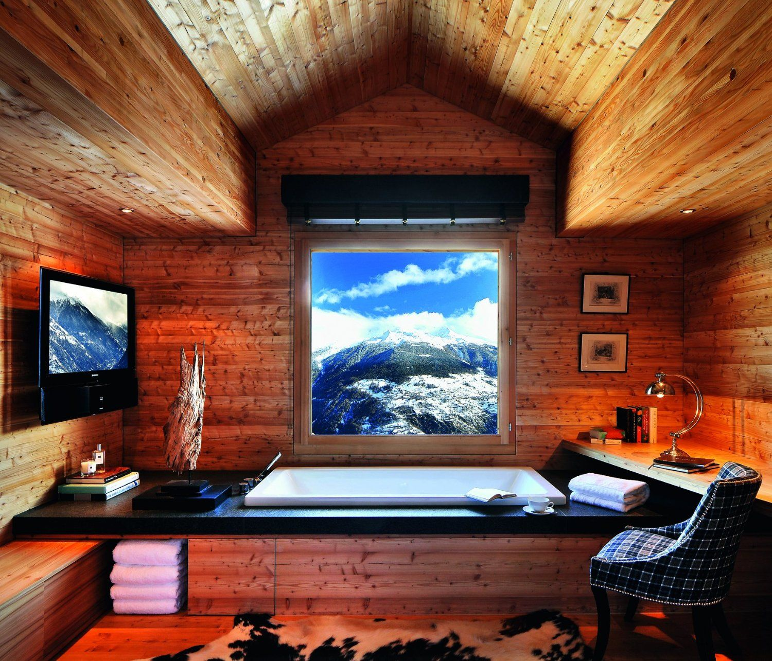 Love framing a view like this. Ceiling interesting: Living in Style ...
