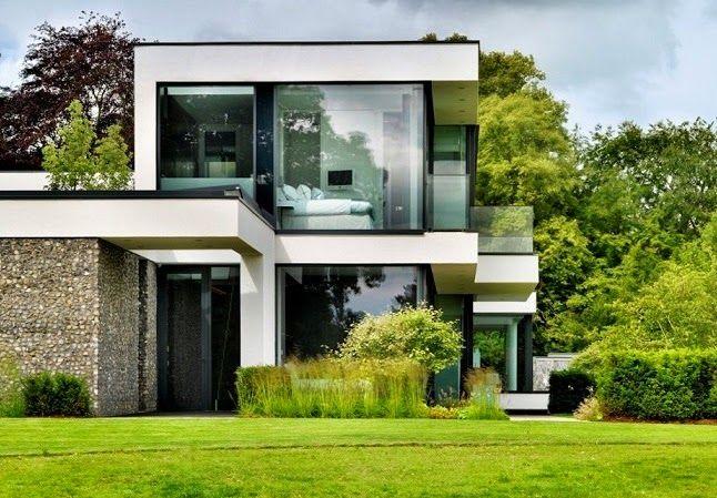 Casa de campo moderna en las orillas del r o t mesis - Disenos de casas de campo modernas ...