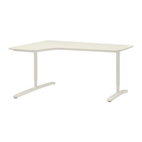 desk alex white home office ikea bekant desk grey desk ikea desk rh pinterest com