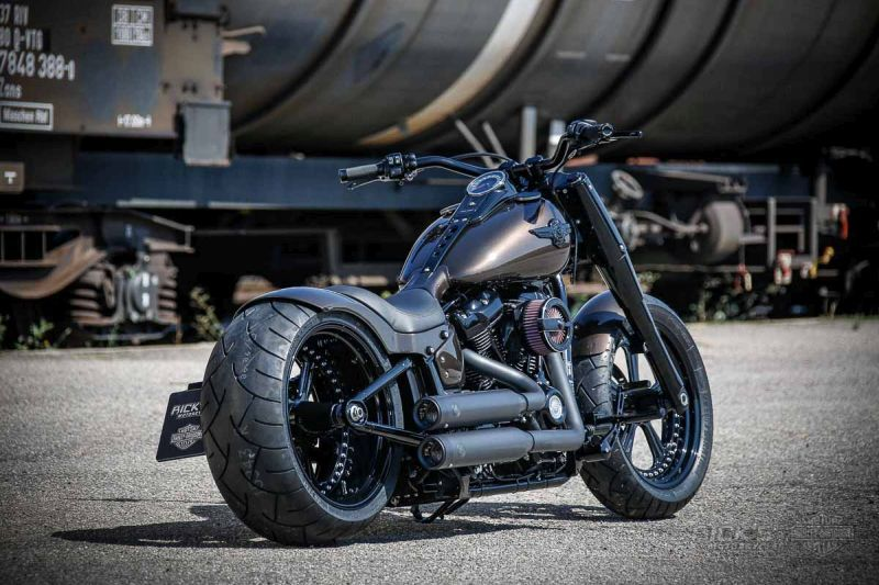 awesome custom bike h d softail fat boy u201ccrescendo u201d by rick s rh pinterest com