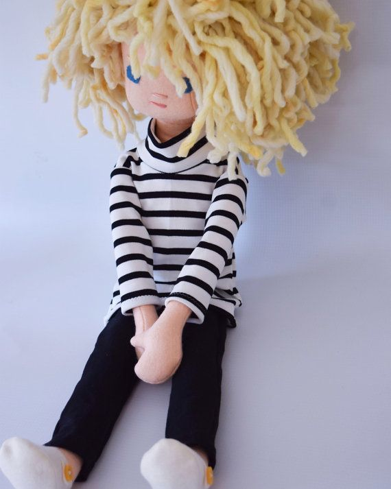 Handmade Rag Doll With Wardrobe By Phoebeandegg On Etsy Warp
