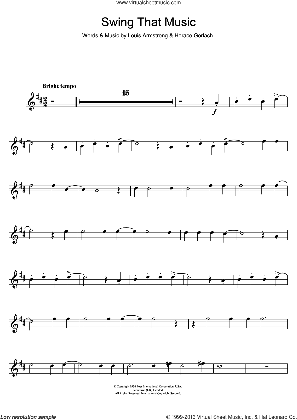 Armstrong Swing That Music Sheet Music For Trumpet Solo Pdf Sheet Music Virtual Sheet Music Digital Sheet Music