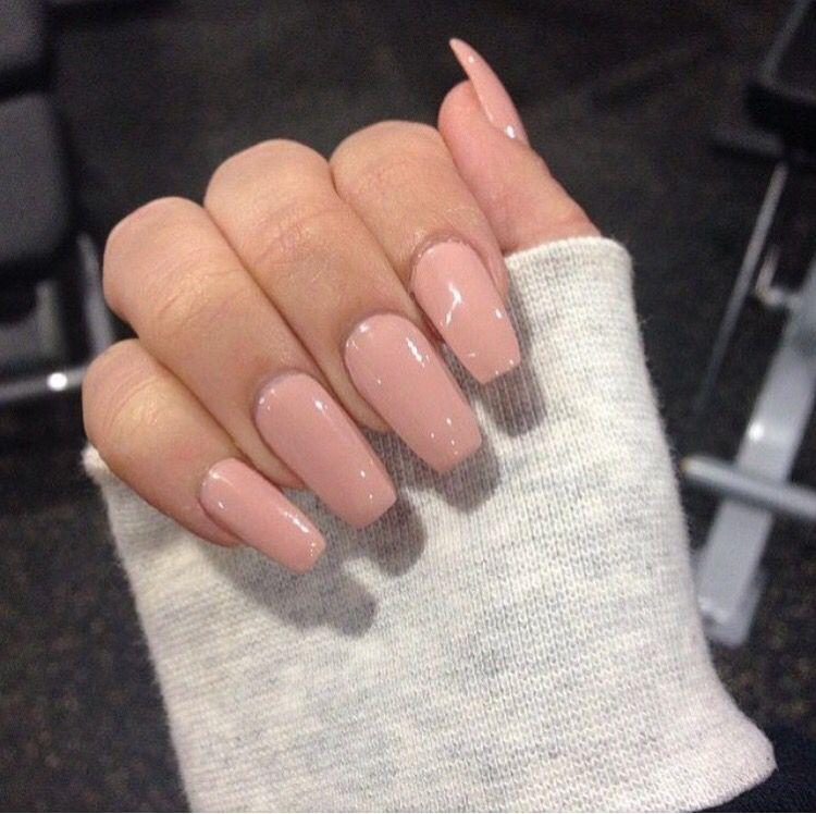 Tan Nails Pink Acrylic Nails Light Pink Acrylic Nails Cute Nails
