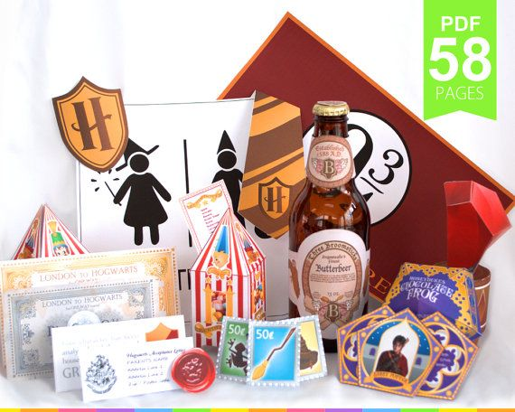 Harry Potter Party Package More Than 40 High Quality By Printyca Geburtstag Geburt