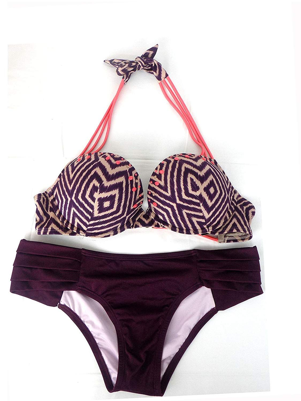 dbaa7bfdd6dec Amazon.com  Victoria s Secret Bikini Swimsuit Bundle Set of 2. Bombshell Bikini  Top 36B and Large Bikini Bottoms NWT  Clothing