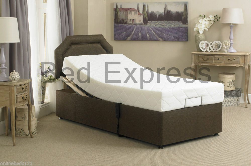 Electric Adjustable Bed 3ft Single 4ft6 Double 5ft King Size