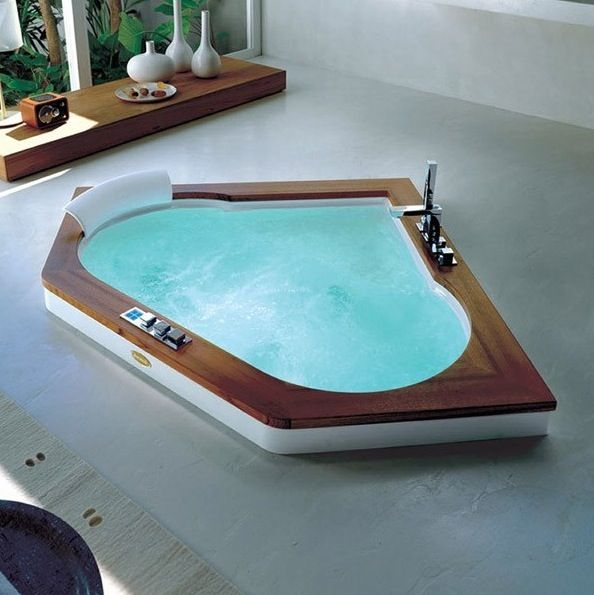 18 Amazing Corner Whirlpool Bathtubs Photograph Ideas