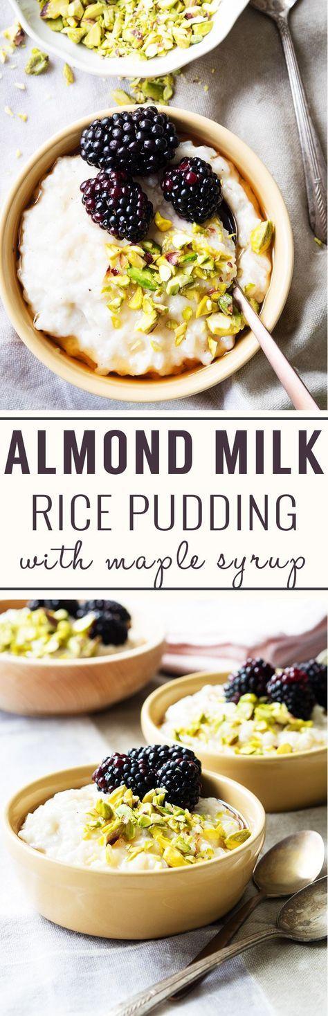 Almond Milk Rice Pudding (Vegan, GF) | Recipe | Almond ...