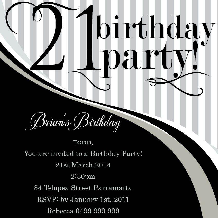 21st birthday invitations 21st