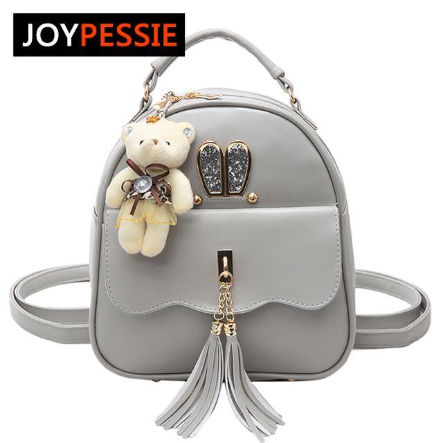 Check it on our site JOYPESSIE Women Back Pack Bag Teenage Student School  Travel Backpack Tassel Shoulder Bag Girls PU Leather Small cross body bag  just ... 15a80cd866