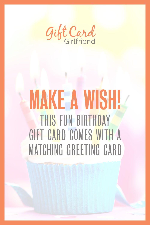 Make A Wish Birthday Gift Card Free Greeting Card Birthday