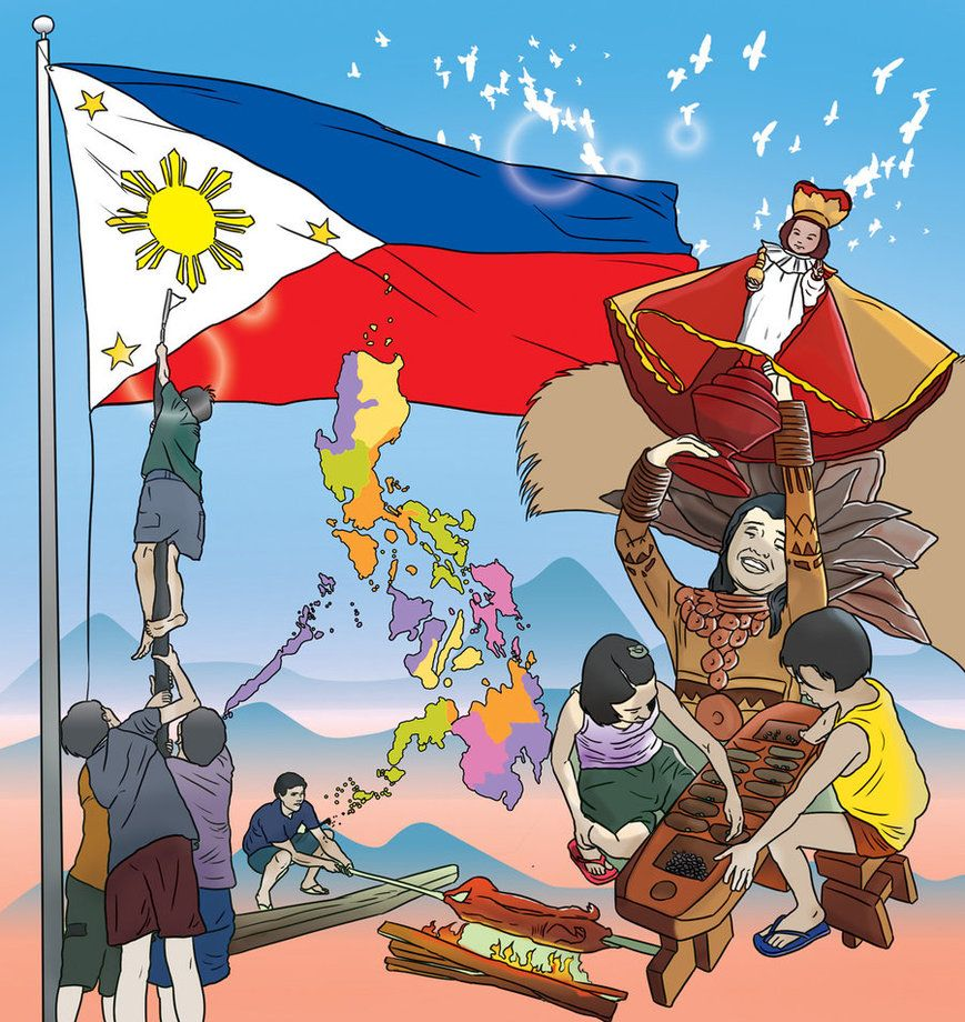 The Republic Of The Philippines A Nation Of 7 107 Islands With A Total Area Of 111 830 Square Miles 307 055 Squa Filipino Culture Philippines Culture Culture