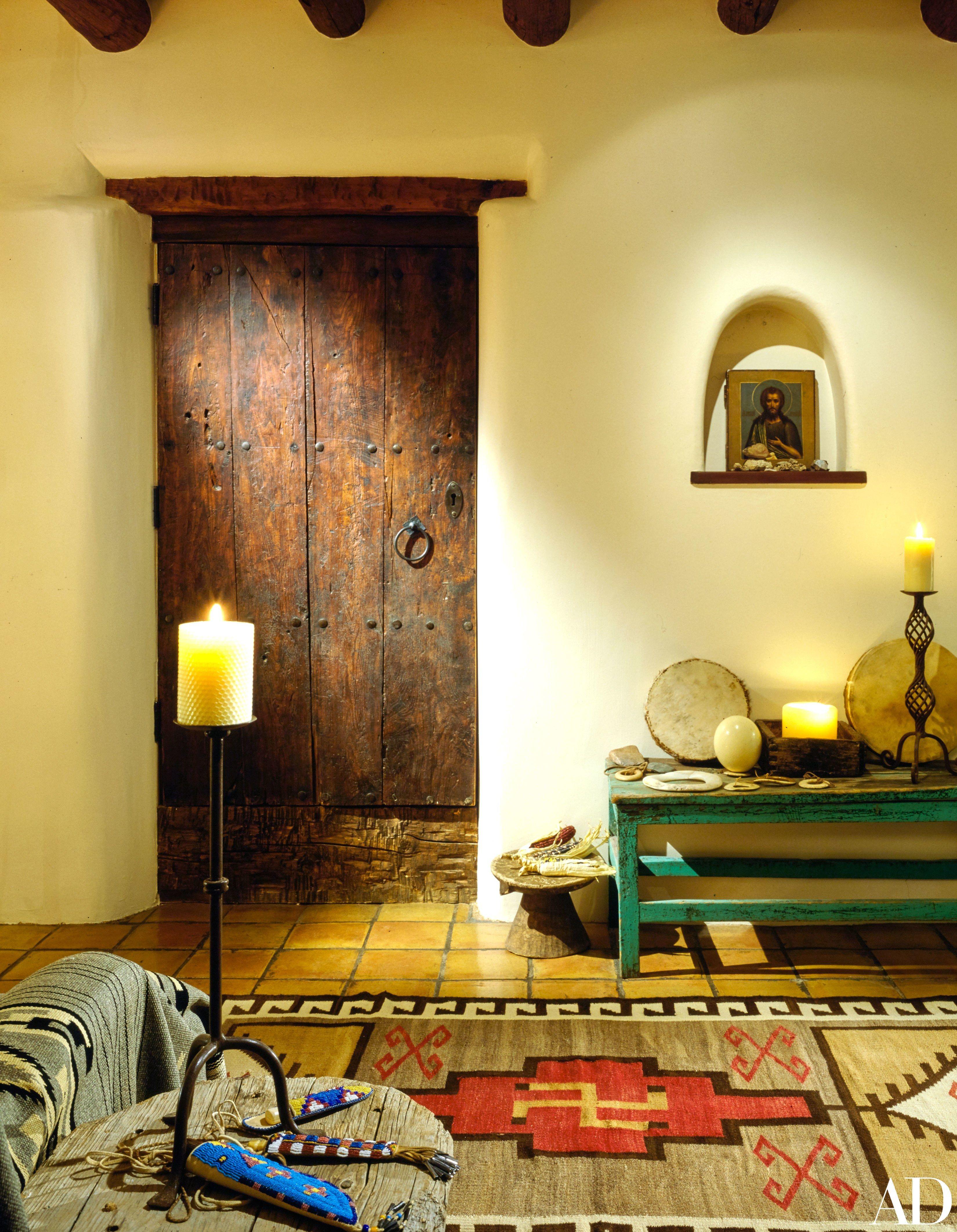 Santa fe style interior design - Val Kilmer S Spiritual Oasis In The Hills Of Santa Fe