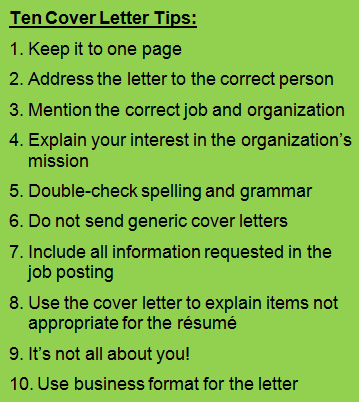 Basic Cover Letter Tips  Resumes  Cover Letters