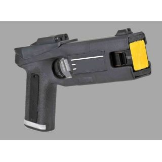 Electric Stun Gun   The most effective Non Lethal weapon  used to     Electric Stun Gun   The most effective Non Lethal weapon  used to subdue a  resisting suspect during an arrest  Effective range 7 meter