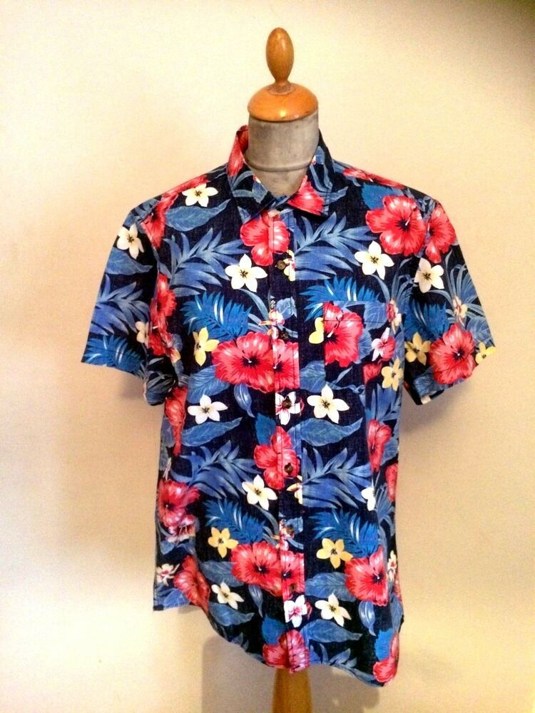 00496f42 Details about 1950s Style Rockabilly Hawaiian Shirt SIZE M chest 40 ...