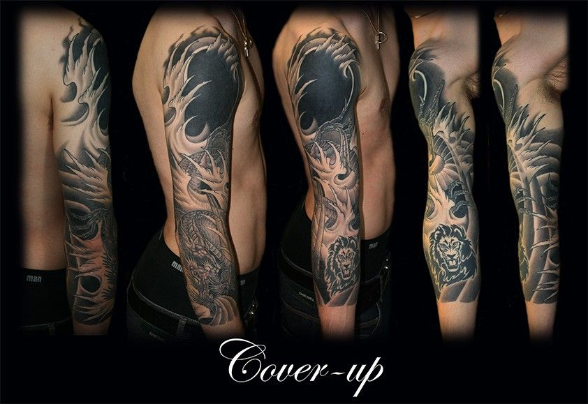 black cover up sleeve tattoo ink pinterest ink clock and sleeve. Black Bedroom Furniture Sets. Home Design Ideas