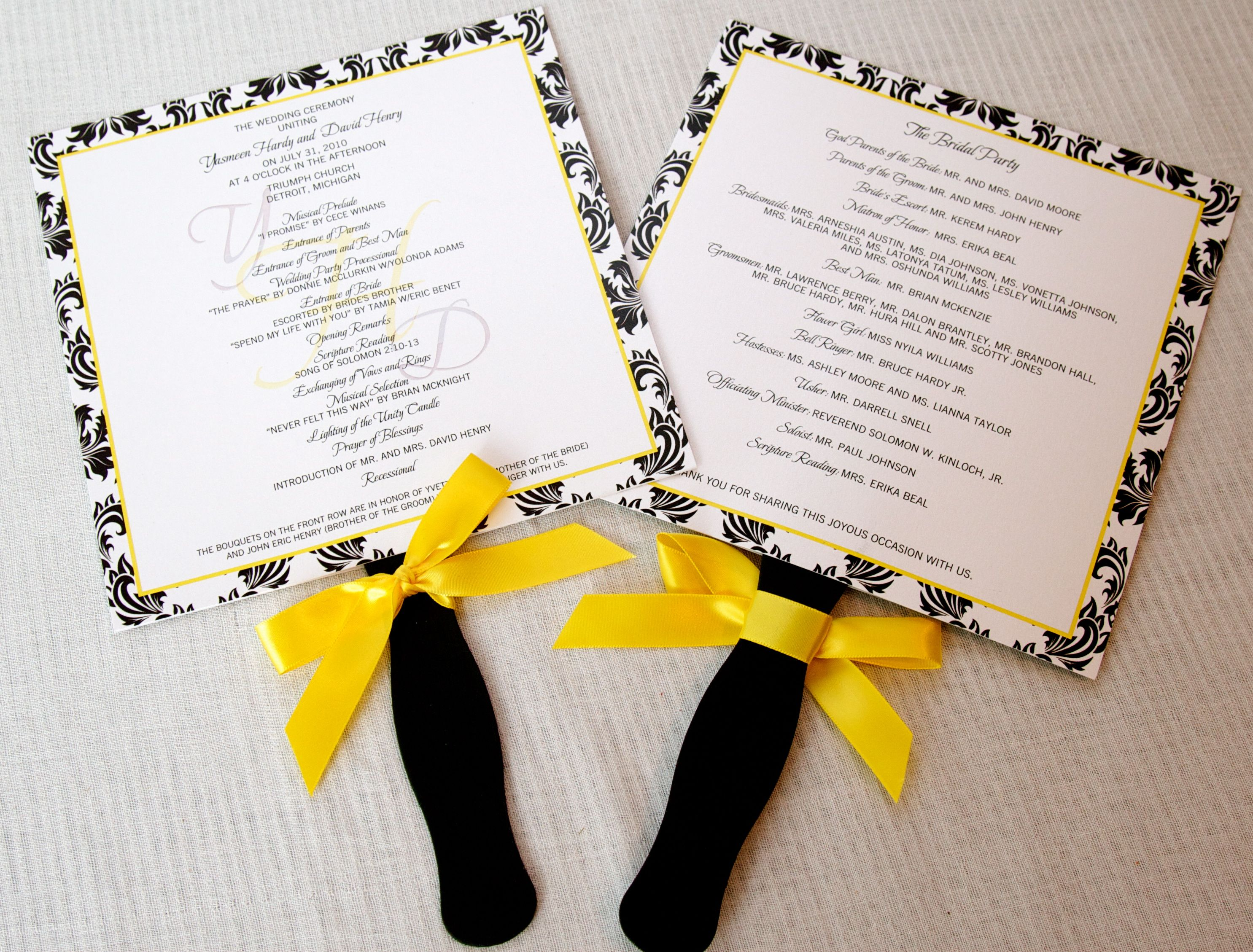 black and white wedding cards pinterest%0A wwddong invitation yellow   Wedding Invitations   Black  White  u     Yellow  Damask Inspired    LEPENN