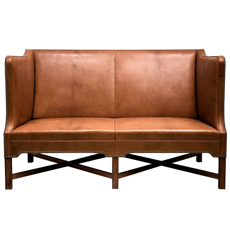 2 1 2 person sofa in nigerian goatskin on cuban mahogany legs by rh pinterest com