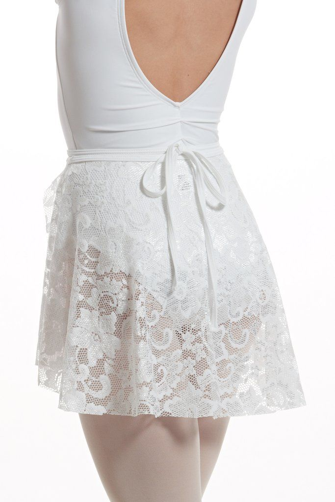 d0ab5607a That's A Wrap Skirt - white lace Dance Leotards, White Skirts, White Lace,