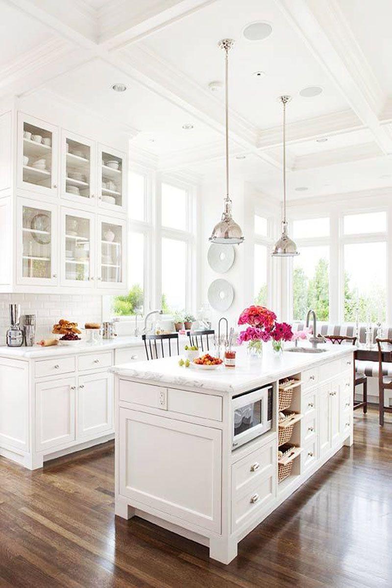 the white and bright kitchen kitchen inspiration kitchen home rh pinterest com