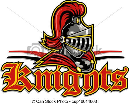 Vector - knights mascot design - stock illustration, royalty free ...