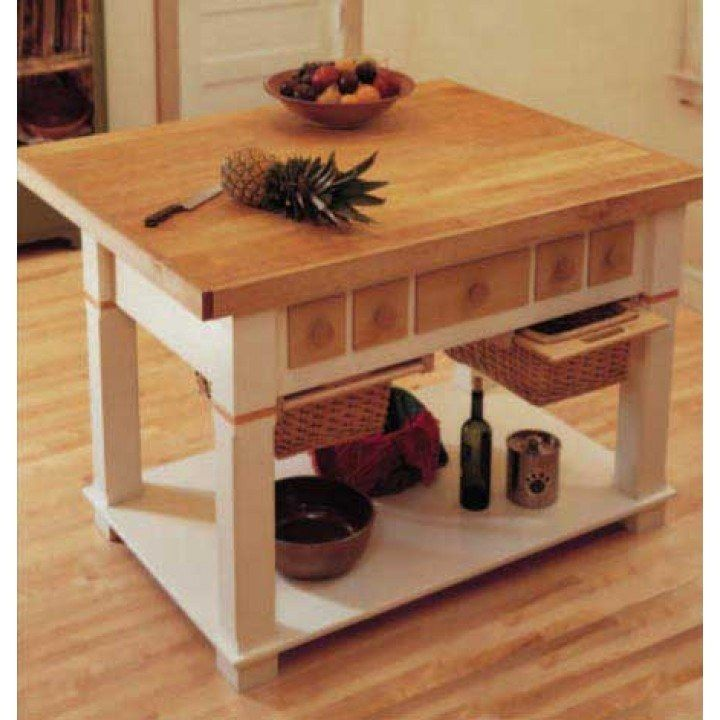 Classic Kitchen Island Downloadable Plan