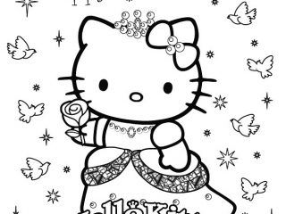 Coloring Page Hello Kitty Princess Coloring Pages New In Painting Hello Kitty Colouring Pages Kitty Coloring Hello Kitty Coloring