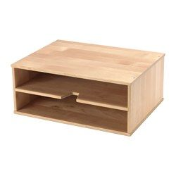 FÖRHÖJA Letter tray - IKEA  Not available in US (yet?) as far as I know but I like it-- may have to build my own version.