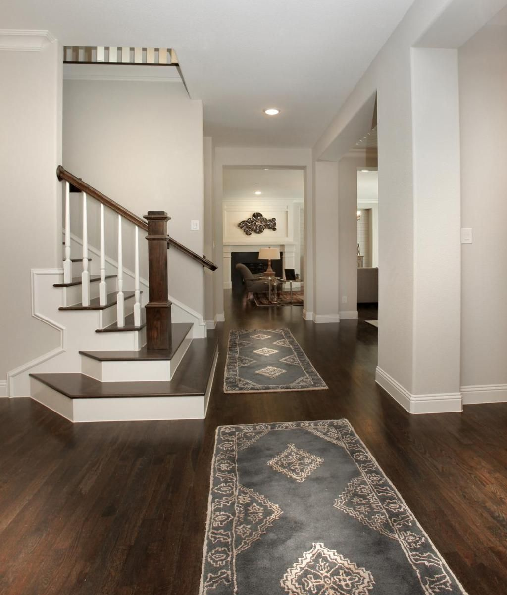 foyer with hardwood floor entry basement flooring basement rh pinterest com