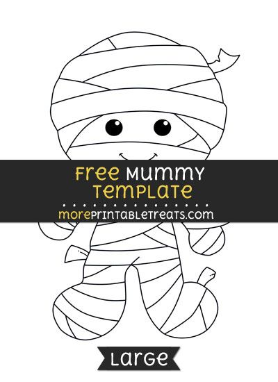 Free Mummy Template Large Halloween Printables In 2019