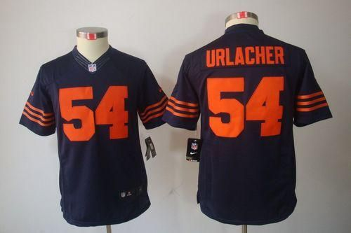 jerseys nike bears 54 brian urlacher navy blue youth 1940s throwback embroidered nfl limited jersey