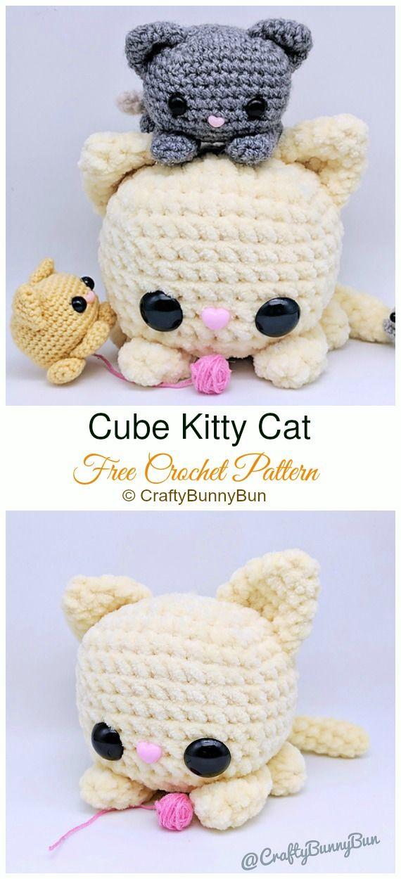 Crochet Amigurumi Cat Free Patterns #kittycats