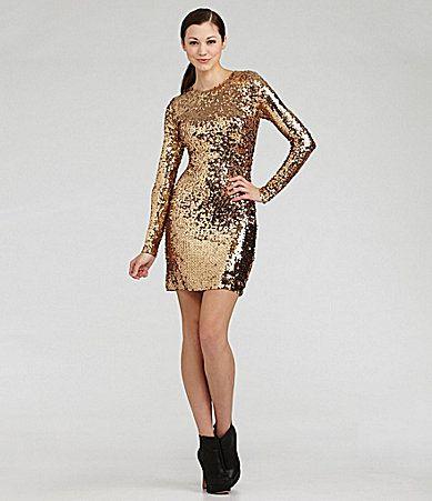 37+ Bebe leaf sequin gold cocktail dress inspirations